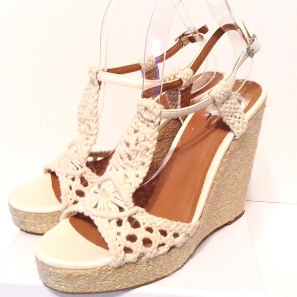 5efd03a97a5 Lucky Brand Shoes - Lucky Brand Platform Wedges Sandals Rilo Crochet
